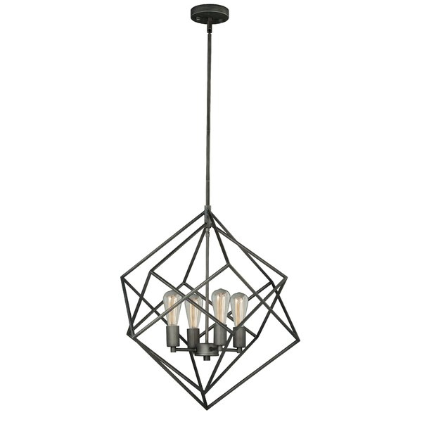 Reidar 4 Light Geometric Chandeliers Pertaining To Well Known Modern & Contemporary Cube Chandelier (Gallery 30 of 30)