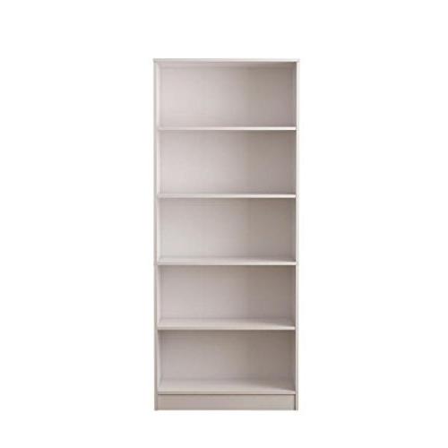 Reynoldsville Standard Bookcases Inside 2019 Hampton Bay White 5 Shelf Standard Bookcase (View 13 of 20)