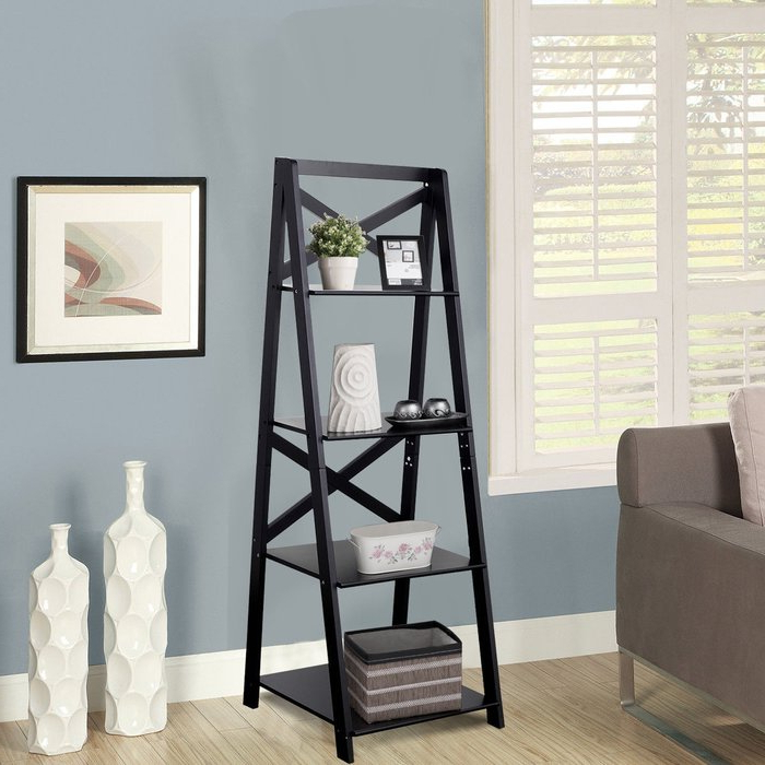 Riddleville Ladder Bookcases Inside Trendy Christner Storage Ladder Bookcase (View 16 of 20)