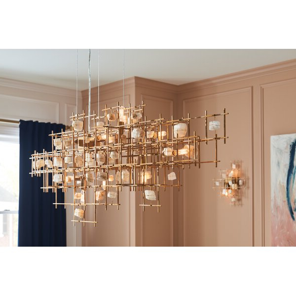 Ringsted 9 Light Geometric Chandelier With Regard To Well Known Hermione 5 Light Drum Chandeliers (View 27 of 30)