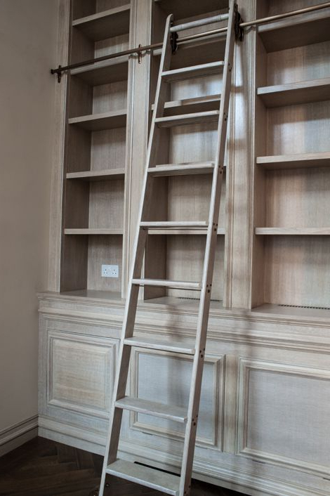 Rupert Ladder Bookcases Intended For Widely Used Rupert Bevan – Commissions – Limed Oak Library – I Want A (Gallery 12 of 20)
