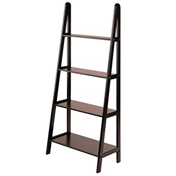 Rupert Ladder Bookcases With Regard To Best And Newest Winsome Wood 4 Tier A Frame Shelf, Dark Espresso (Gallery 15 of 20)