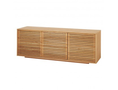 Ruskin Sideboards Intended For Well Known Max Oiled Solid Oak 3 Door Sideboard With Slatted Doors (View 19 of 20)