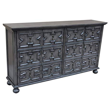 Rutledge Sideboards Throughout Trendy Amazon: Rutledge Antique Grey 4 Door Pattern Front (View 14 of 20)
