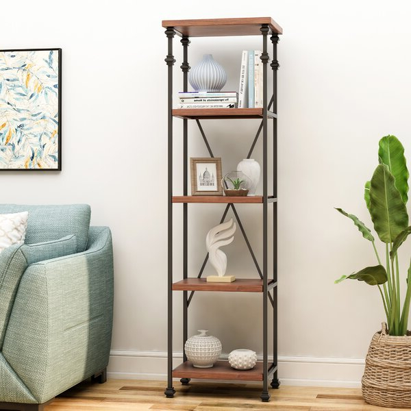 Sarina 4 Shelf Etagere Bookcase17 Stories Cool Within Most Recent Beckett Etagere Bookcases (View 15 of 20)