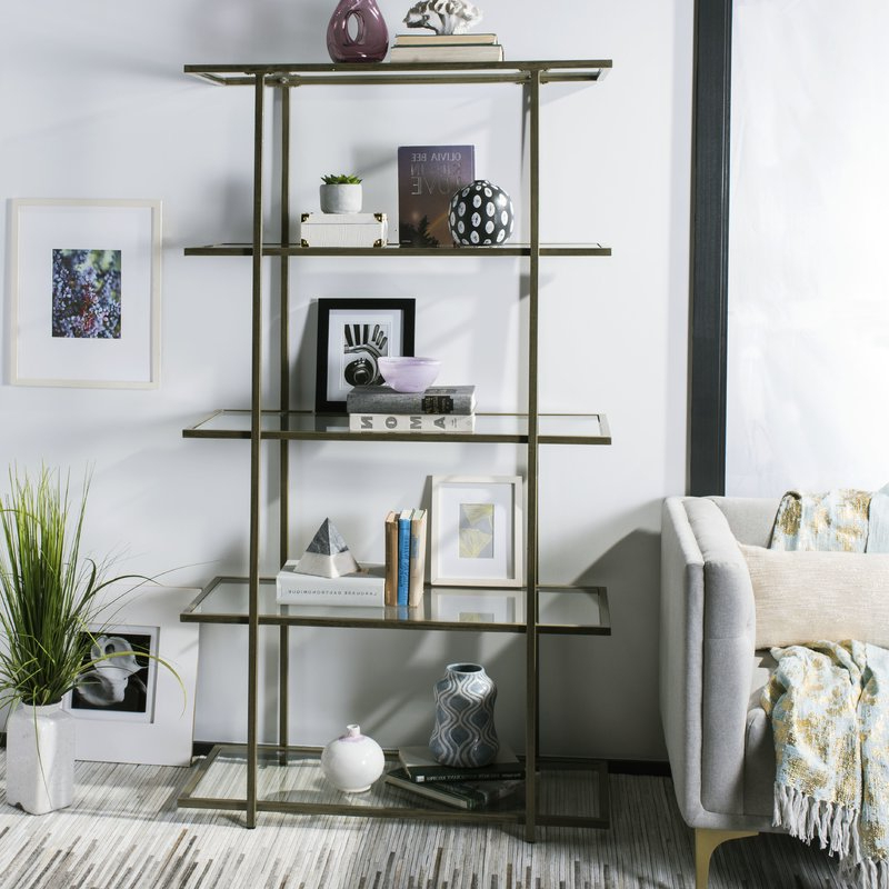 Saskia Etagere Bookcases With Regard To Popular Farrand Etagere Bookcase (View 17 of 20)