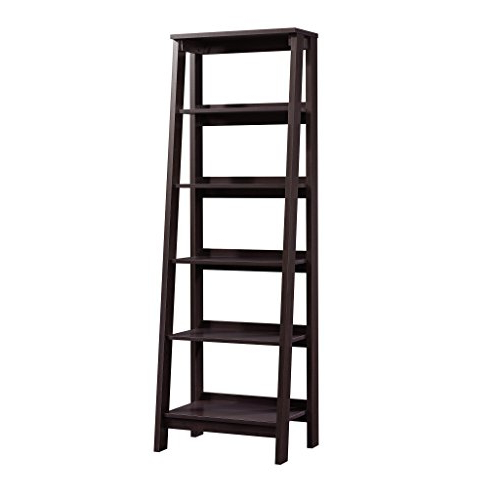 "Sauder 414602 Trestle 5 Shelf Bookcase, W: 23.54"" X L: 16.61"" X H: (View 15 of 20)"