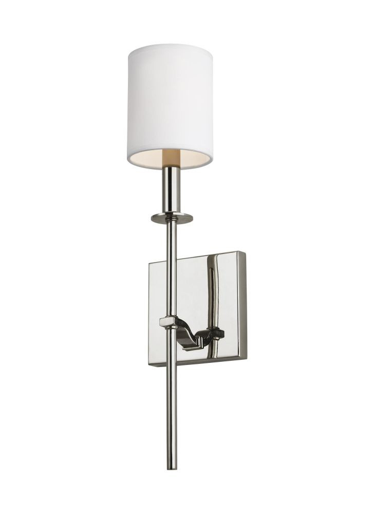 Sea Gull Lighting Wb1873pn Hewitt 1 Light Wall Sconce In Polished Nickel With Square White Paper Shade Within Widely Used Hewitt 4 Light Square Chandeliers (View 15 of 30)