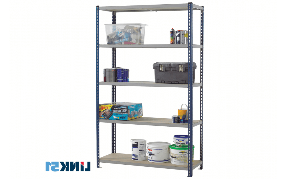 Series C Standard Bookcases Inside Most Current Stockrax Standard Duty Shelving Bay – C/w 6 Chipboard Shelf Levels – Various Sizes And Colours (View 17 of 20)