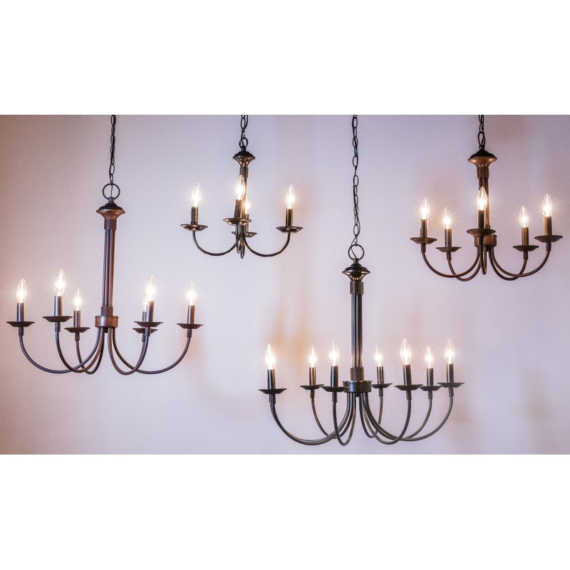 Shaylee 5 Light Candle Style Chandelier With Widely Used Shaylee 6 Light Candle Style Chandeliers (View 10 of 30)
