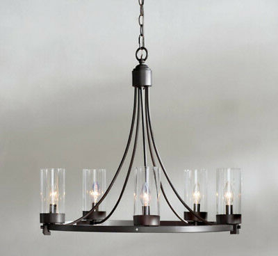 Shaylee 5 Light Candle Style Chandeliers Within Well Liked 5 Light Candle Style Chandelier Farmhouse Ceiling Elevated Lighting Fixture (View 21 of 30)