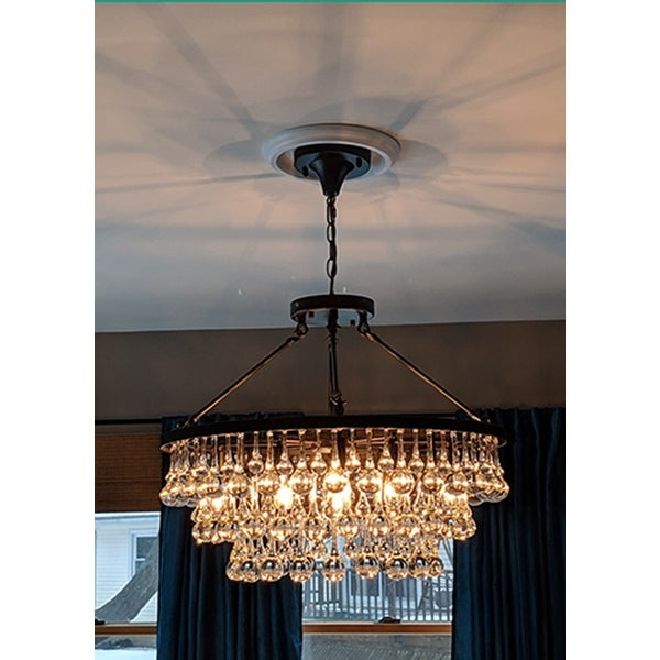 Shop Arosa 9 Light Black Semi Flush Mount – On Sale – Free In Trendy Mcknight 9 Light Chandeliers (View 27 of 30)