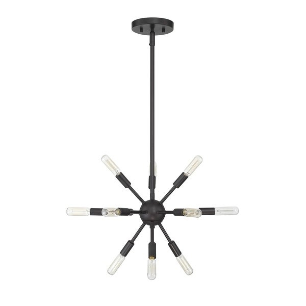 Shop Helena 12 Light Sputnik Chandelier With Oil Rubbed For Preferred Vroman 12 Light Sputnik Chandeliers (View 21 of 30)