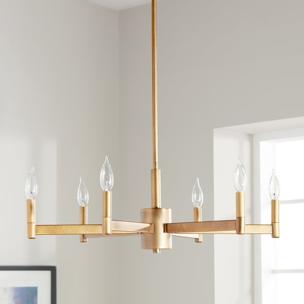Shop Kichler Lighting Erzo Collection 6 Light Natural Brass For Well Liked Alden 6 Light Globe Chandeliers (View 13 of 30)