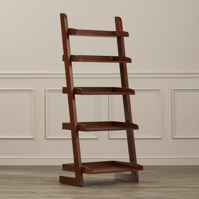 Silvestri Ladder Bookcase With Well Known Bordelon Slatted Ladder Bookcases (View 14 of 20)