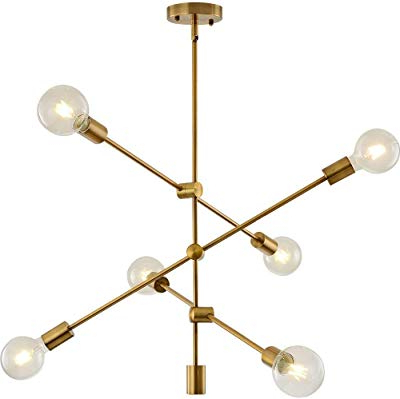Silvia 6 Light Sputnik Chandeliers For Favorite Amazon: Bonlicht Modern Sputnik Chandelier Lighting (View 7 of 30)