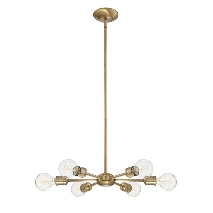 Silvia 6 Light Sputnik Chandeliers Pertaining To Recent Bautista 6 Light Sputnik Chandelier (View 23 of 30)