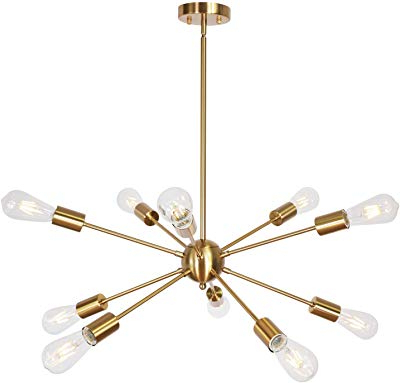 Silvia 6 Light Sputnik Chandeliers Within Well Known Amazon: Bonlicht Modern Sputnik Chandelier Lighting  (View 25 of 30)