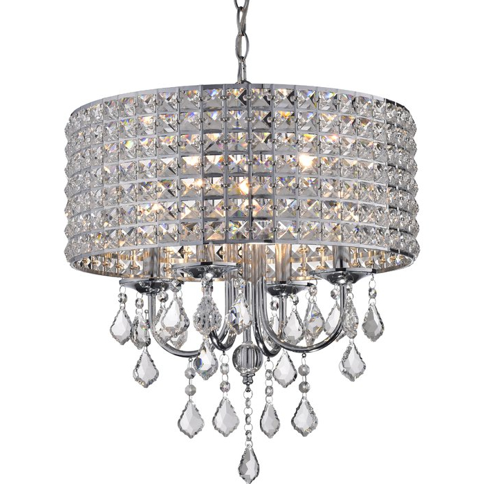 Sinead 4 Light Chandeliers For 2020 Albano 4 Light Crystal Chandelier (View 18 of 30)