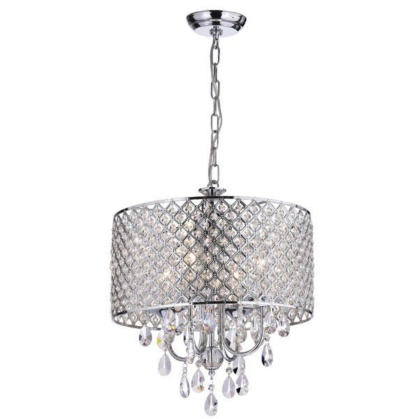 Sinead 4 Light Chandeliers In Most Recently Released This Fixture Features A Crystal Encrusted Drum Shade And (View 14 of 30)