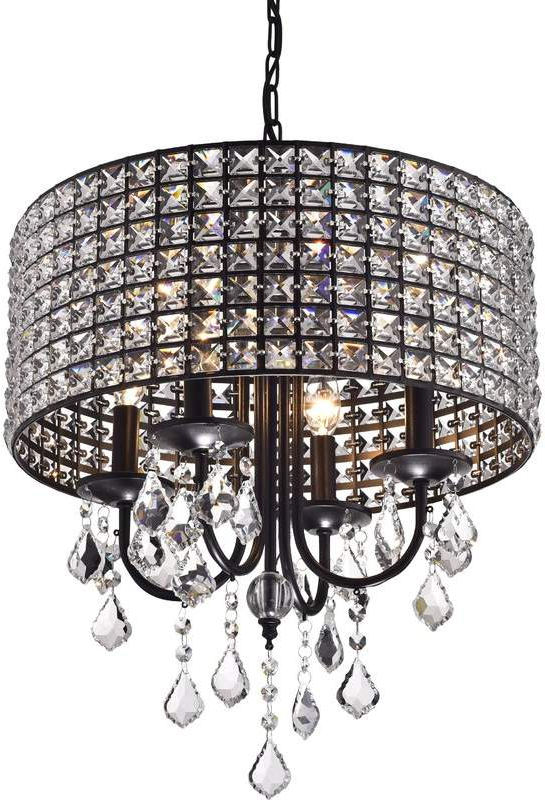Sinead 4 Light Chandeliers Intended For Trendy Willa Arlo Interiors Albano 4 Light Crystal Chandelier In (View 5 of 30)