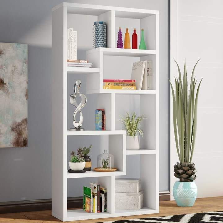 Skaggs Geometric Bookcases Pertaining To 2020 Skaggs Geometric Bookcase In (View 5 of 20)
