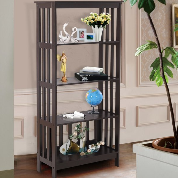 Skaggs Geometric Bookcases Pertaining To 2020 Skaggs Geometric Bookcasewrought Studio Great Price On (View 17 of 20)