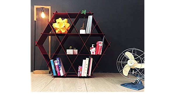 Skaggs Geometric Bookcases With Most Up To Date Amazon: Ruche Shelving Unit Geometric Bookcase And (View 18 of 20)