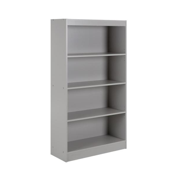 South Shore Axess Soft Gray Open Bookcase 10136 – The Home Depot With Most Recent Axess Standard Bookcases (View 17 of 20)