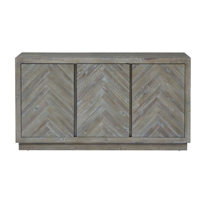 Staton Herringbone Pattern Wooden Sideboard With Most Up To Date Barr Credenzas (View 14 of 20)
