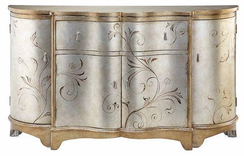 Stein World Celeste Hand Painted Metallic Credenza Cabinet In Preferred Wattisham Sideboards (View 6 of 20)