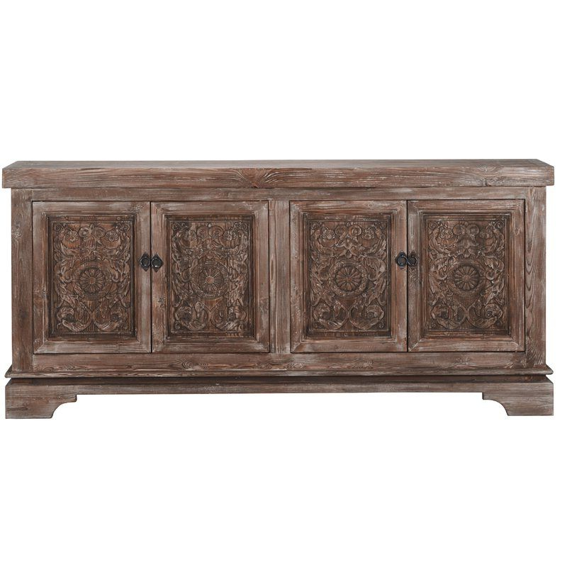Steinhatchee Reclaimed Pine 4 Door Sideboard In 2019 Pertaining To Preferred Steinhatchee Reclaimed Pine 4 Door Sideboards (View 13 of 20)
