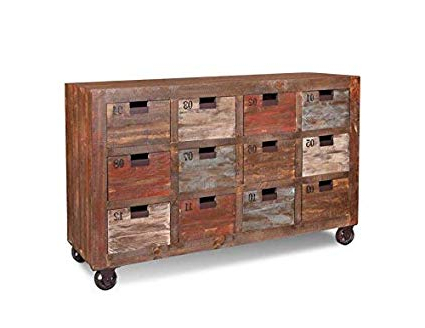 Stella Sideboards With Regard To Trendy Amazon – Industrial Rustic Solid Wood 12 Drawer Numbered (View 17 of 20)
