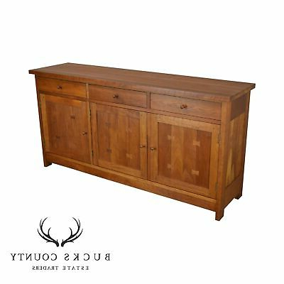 Stickley Mission Collection Solid Cherry 3 Door Buffet Sideboard (View 18 of 20)