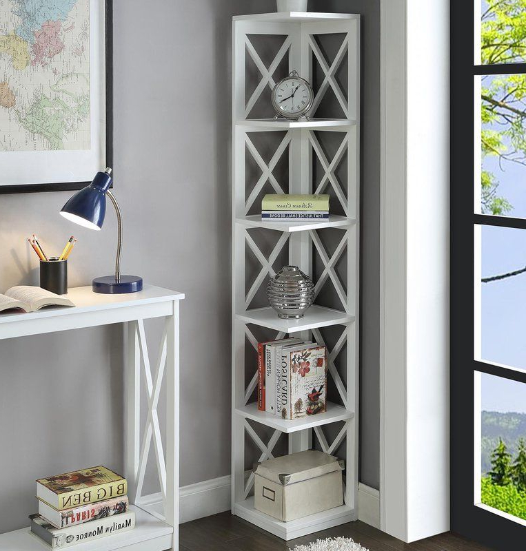 Stoneford Corner Bookcases Throughout 2019 Stoneford Corner Bookcase In (View 11 of 20)