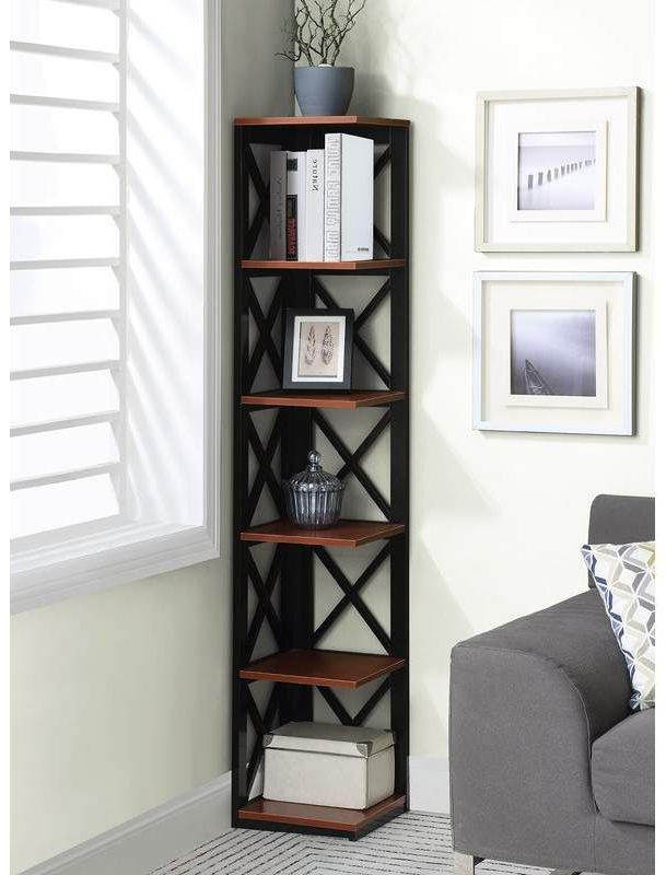 Stoneford Corner Bookcases With Most Popular Beachcrest Home Stoneford Corner Bookcase In (View 7 of 20)