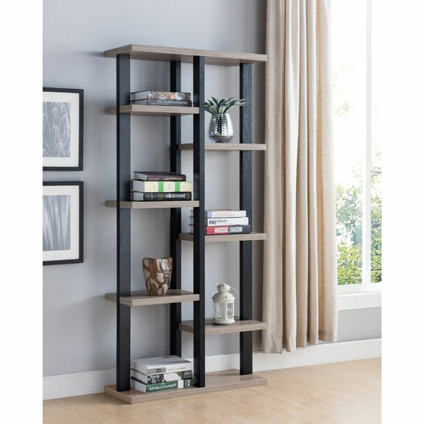 Street Multifunctional Wooden Etagere Bookcasegracie Oaks Pertaining To Most Up To Date Cifuentes Dual Etagere Bookcases (View 17 of 20)