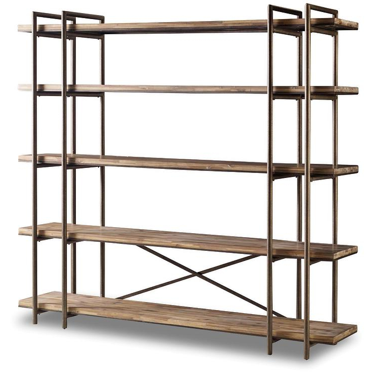 Studio Organic Industrial Etagere Bookcase For Most Current Etagere Bookcases (View 15 of 20)