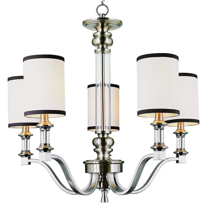 Suki 5 Light Shaded Chandeliers With Preferred Pfeffer 5 Light Shaded Chandelier (View 5 of 30)