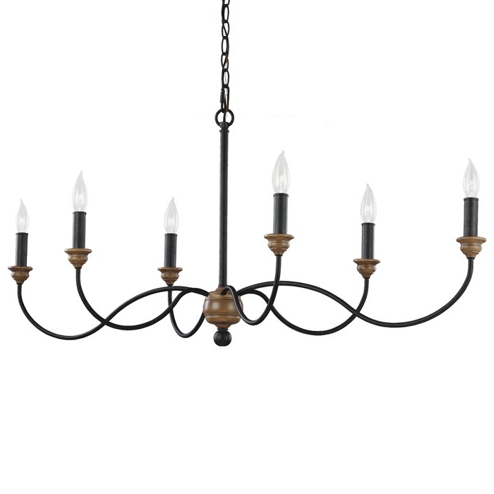 Sundberg 6 Light Candle Style Chandelier With Most Recent Lynn 6 Light Geometric Chandeliers (View 26 of 30)
