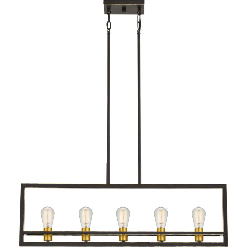 Tabit 5 Light Geometric Chandeliers In Most Current Theophania 5 Light Square/rectangle Chandelier (Gallery 27 of 30)