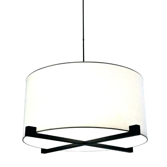 Tadwick 3 Light Single Drum Chandeliers Pertaining To Latest Alina 5 Light Fabric Shade Drum Pendant (Gallery 30 of 30)