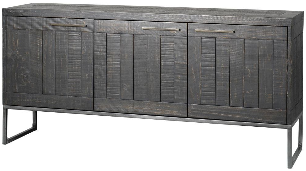 Tate Sideboards Pertaining To Most Up To Date Rowico Tate Large Sideboard – Black (Gallery 15 of 20)