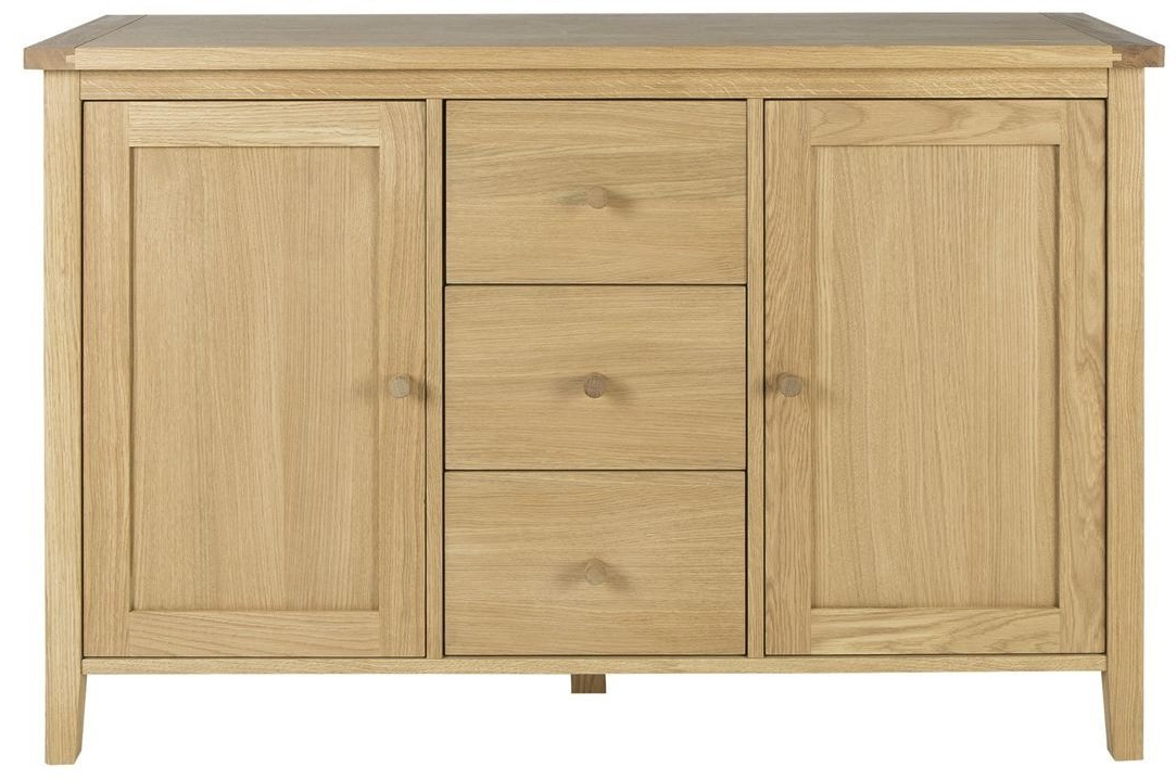 Tesco New Ruskin Classic Sharker Style Sideboard 2 Door 3 Pertaining To Most Popular Ruskin Sideboards (View 16 of 20)
