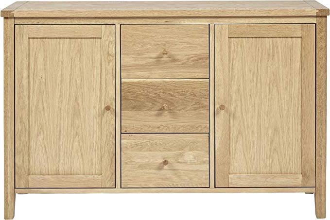 Tesco Ruskin 2 Door 3 Drawer Sideboard (oak) With Regard To Current Ruskin Sideboards (View 4 of 20)