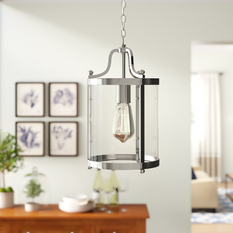 Tessie 3 Light Lantern Cylinder Pendants For Fashionable Tessie 1 Light Lantern Cylinder Pendant (View 8 of 30)