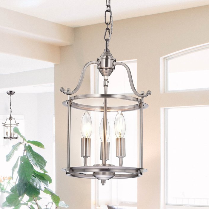 Tessie 3 Light Lantern Cylinder Pendants With 2019 Labarge 3 Light Lantern Cylinder Pendant (View 15 of 30)