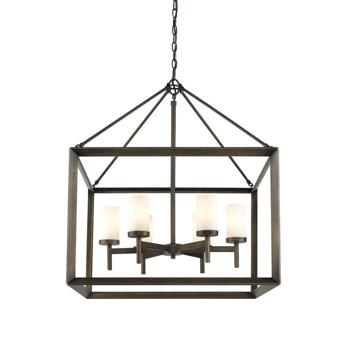 Thorne 6 Light Lantern Square / Rectangle Pendant Regarding Fashionable Thorne 6 Light Lantern Square / Rectangle Pendants (View 20 of 30)