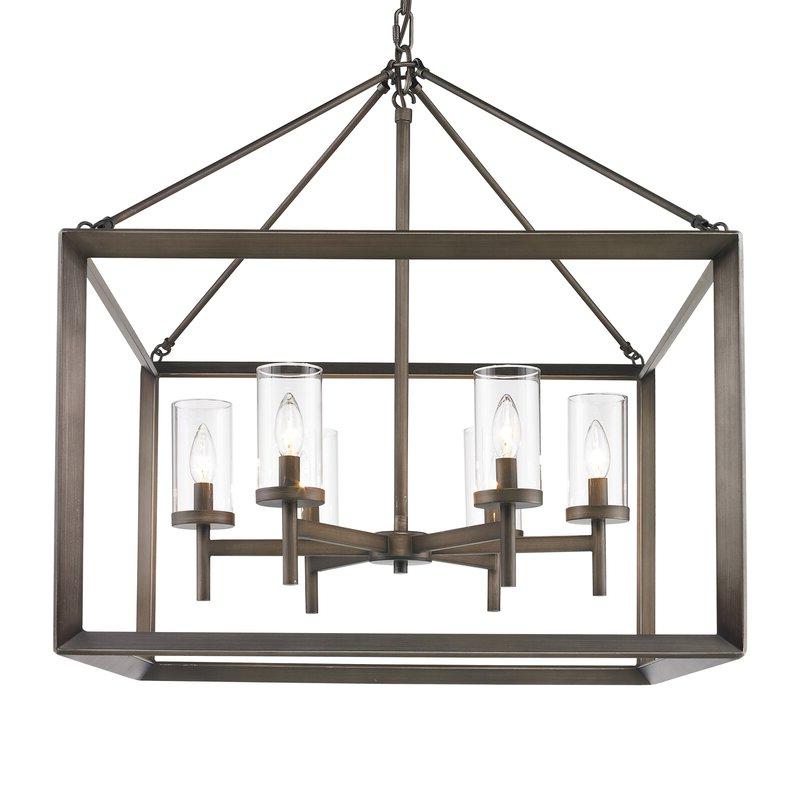 Thorne 6 Light Lantern Square / Rectangle Pendant Regarding Most Recent Thorne 6 Light Lantern Square / Rectangle Pendants (Gallery 1 of 30)