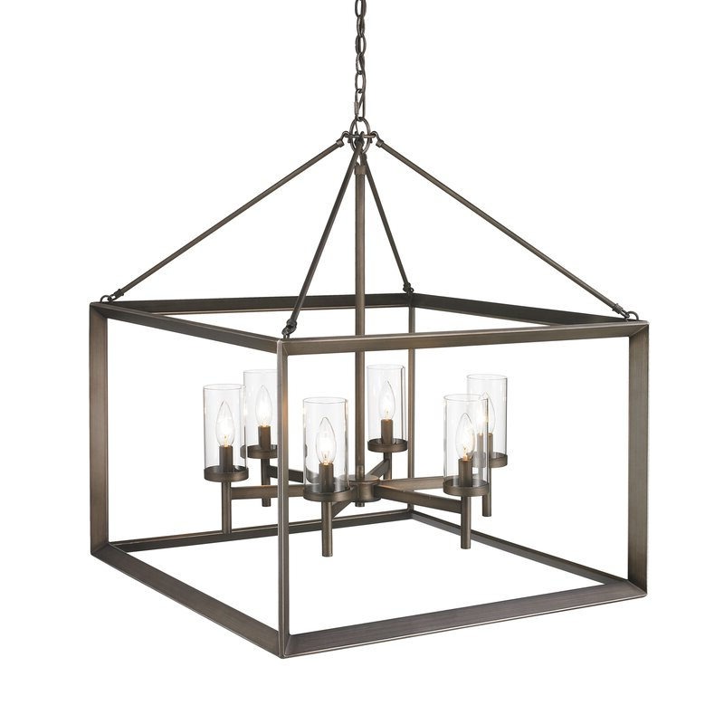 Thorne 6 Light Lantern Square / Rectangle Pendants Inside Most Popular Thorne 6 Light Lantern Square / Rectangle Pendant (Gallery 5 of 30)